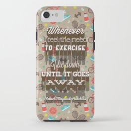Exercising... iPhone Case