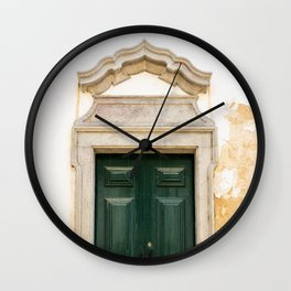 Old door in Tavira, Portugal Wall Clock