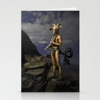 capricorn Stationery Cards featuring Capricorn by Viggart