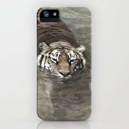 Tiger Lazing in the Water iPhone Case