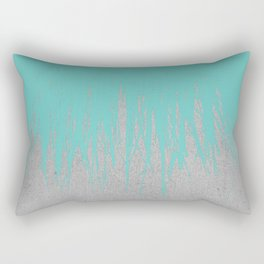 Concrete Fringe Turquoise Rectangular Pillow