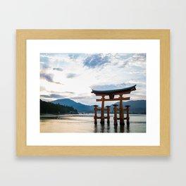 Itsukushima Shrine Torii Gate Framed Art Print