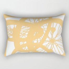 Bike wheels in yellow Rectangular Pillow