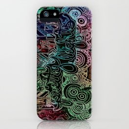 All of the Glowing Lights iPhone Case