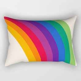 Groovy - rainbow 70s 1970s style retro throwback minimal happy hippie art decor Rectangular Pillow