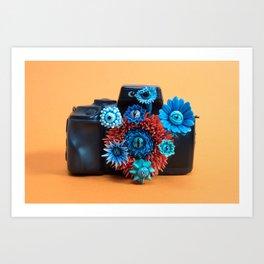 Surveillance Camera | Eyed Flowers Watching | Surrealistic Sculpture by Stephanie Kilgast Art Print