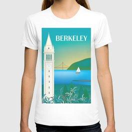Berkeley, California - Skyline Illustration by Loose Petals T-shirt