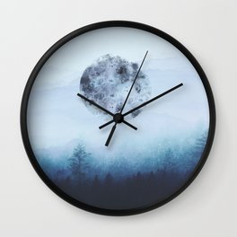 Watercolor Moon Wall Clock