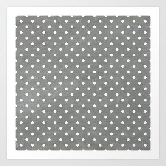 dark gray swiss dots Art Print