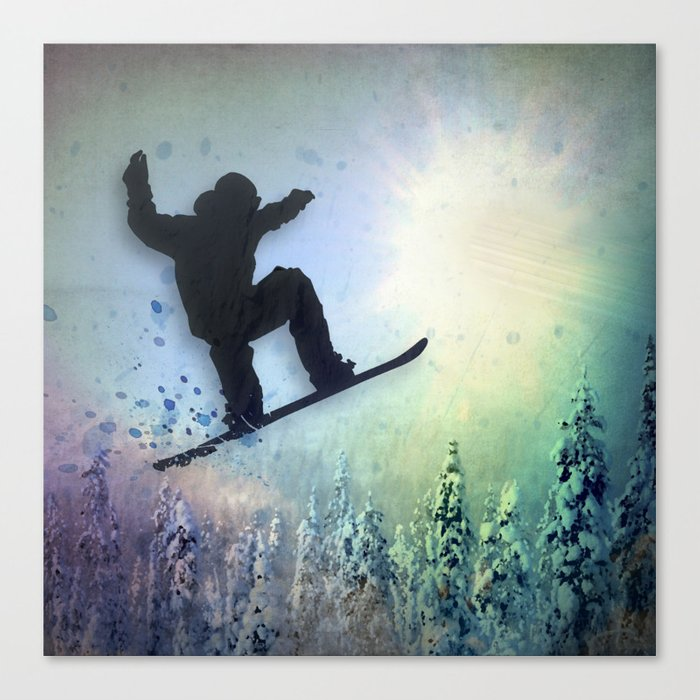 The Snowboarder: Air Canvas Print