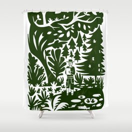 Erik of the Woods Shower Curtain