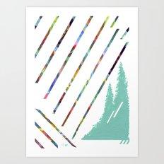 Green & Brown Art Print