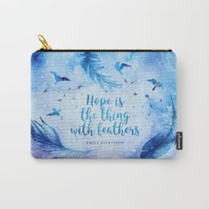 Hope is the thing with feathers Carry-All Pouch