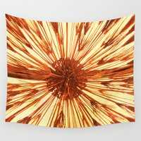 copper Wall Tapestries featuring Copper Burst by AQUAtint