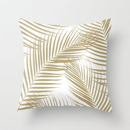 Palm Leaves - Gold Cali Vibes #1 #tropical #decor #art #society6 Throw Pillow