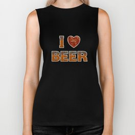 I Love Beer Biker Tank