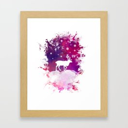 Caribou winter art Framed Art Print