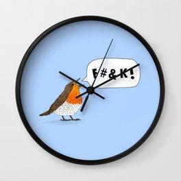Fuck Robin Wall Clock