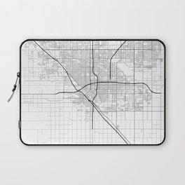 Minimal City Maps - Map Of Fresno, California, United States Laptop Sleeve