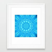 turquoise Framed Art Prints featuring turquoisE Mandala Expolosion by 2sweet4words Designs