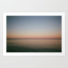 Song Bird Sun Set Art Print