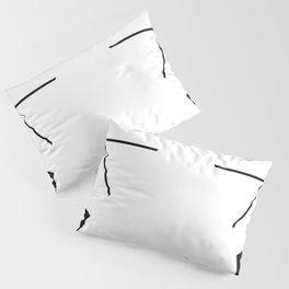 Kanizsa triangle Pillow Sham