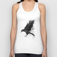 crow Tank Tops featuring Crow by Adam Flynn