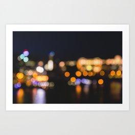 Braille city Art Print