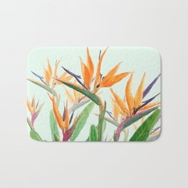 bird of paradise flower painting Bath Mat