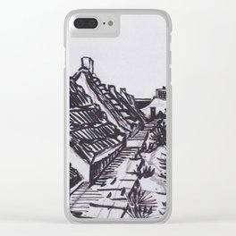 Street in Saintes-Maries by Vincent van Gogh Clear iPhone Case