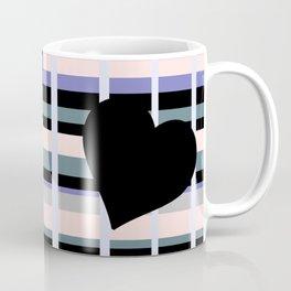 Three Black Hearts - Purple Green Coffee Mug