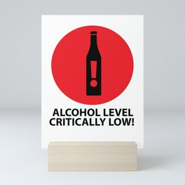 Drunk Beer Alcohol Level Drink funny gift Mini Art Print
