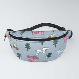 Cold Winter Forest Fanny Pack