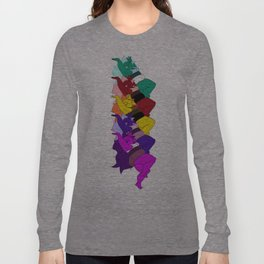 Amethyst Falling in a Cool Color Palette Long Sleeve T-shirt
