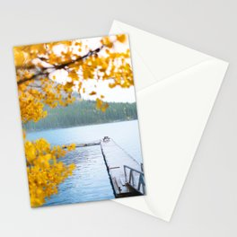 343. Minnewanka Lake under the snow, Banff, Canada Stationery Cards