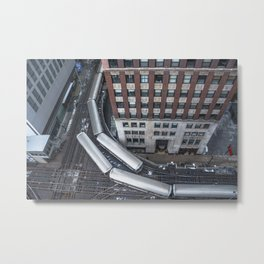'L'evated Train Metal Print