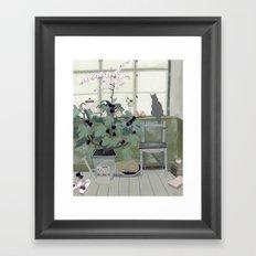 Indoor Garden With Fig Tree Framed Art Print
