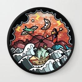 Storm landscape Wall Clock