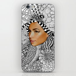 Tangled Face iPhone Skin