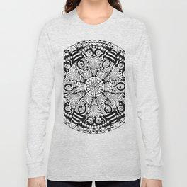 Mandala Monochrome Long Sleeve T-shirt