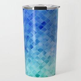Blue Mosaic Pattern Travel Mug