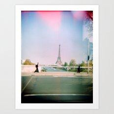 Paris Holga: Eiffel Tower Art Print