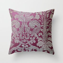 Vintage Venice - Flower Pattern Throw Pillow