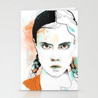 cara Stationery Cards featuring Cara by Claire.H