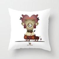 sagittarius Throw Pillows featuring SAGITTARIUS by Angelo Cerantola