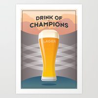 Drink Of Champions (Lager) Art Print