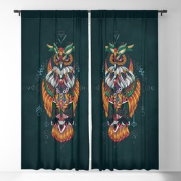 Wisdom Of The Owl King Blackout Curtain