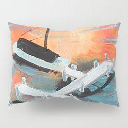 Sunets and Sail Boats Pillow Sham