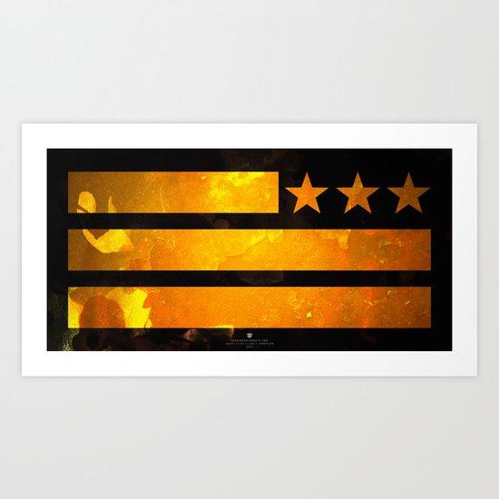TriStar Flag Art Print