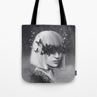 sia Tote Bags featuring 100 Forms of Fear / Sia by Nicolas Jamonneau